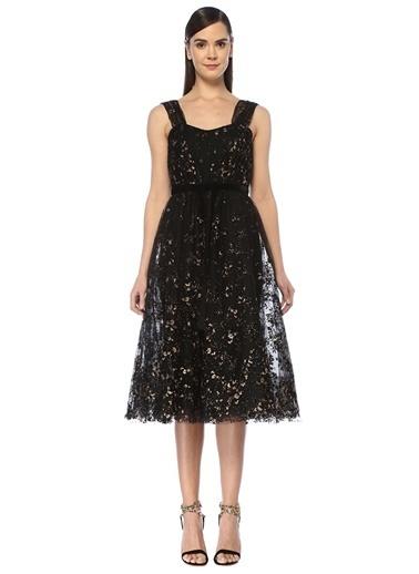 Marchesa Notte Elbise Siyah